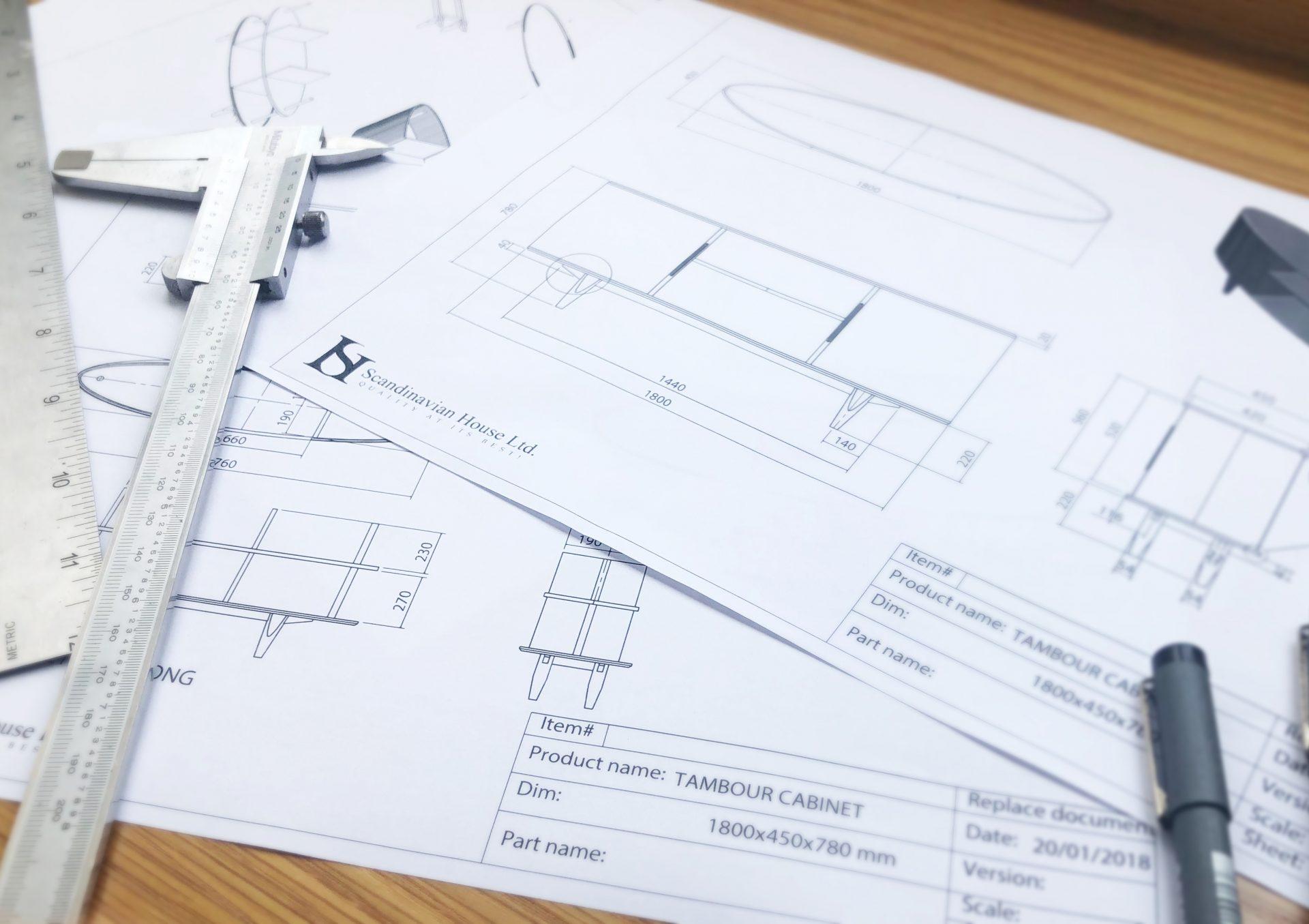 Manufacturing Technical Drawing Scandinavian House 02