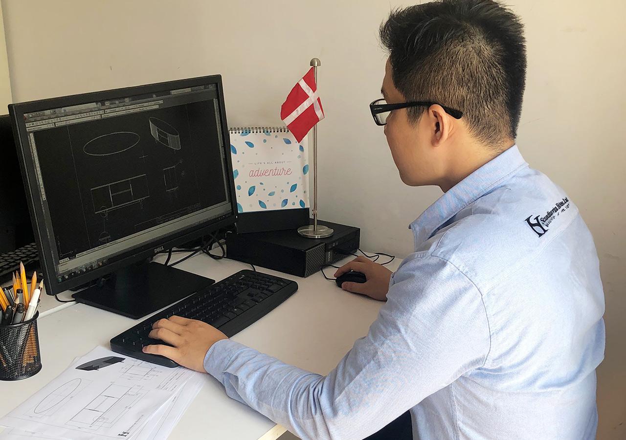 Scandinavian House - Technical Drawing